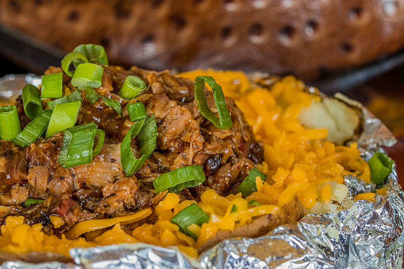 Valley Ranch BBQ Chopped Baked Potato